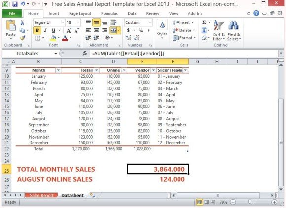 Stunning Excel Sales Report Template Photos - Example