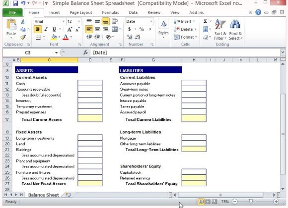 Simple Excel Spreadsheet Templates Idealstalist