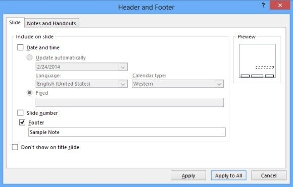How to add header and footer to slides in powerpoint 2013 add footer toneelgroepblik Gallery