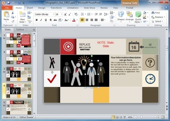 edit infographics template for powerpoint