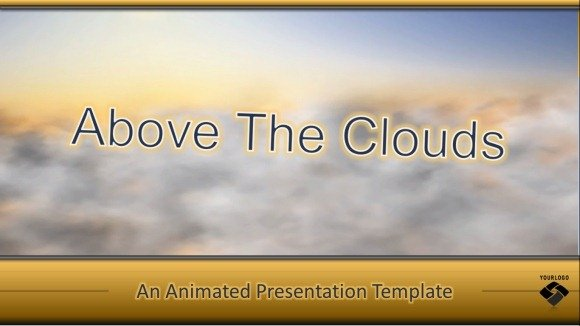 Flying Above The Clouds Powerpoint Templateg Fppt