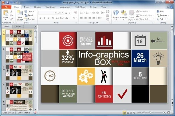 animated infographics template for powerpoint, Modern powerpoint