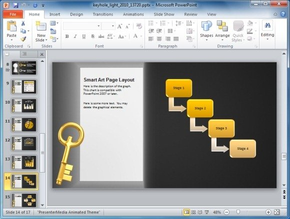 Animated keyhole powerpoint template keyhole powerpoint template with smartart graphics toneelgroepblik Image collections