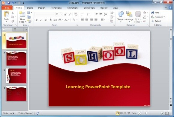 best educational powerpoint templates, Modern powerpoint