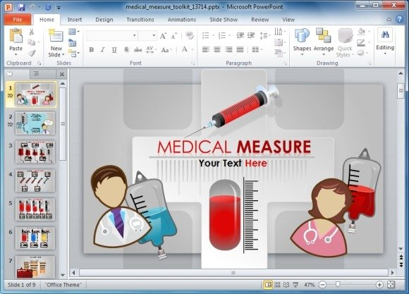 medical powerpoint template toolkit, Powerpoint templates