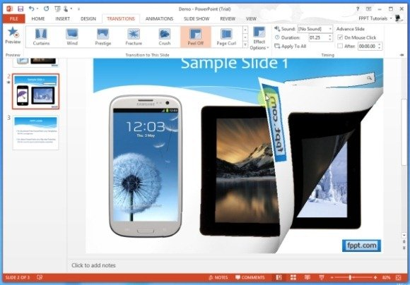 Page Turn Effect in PowerPoint