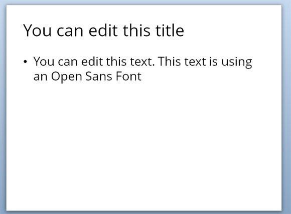 using open sans font in powerpoint presentations