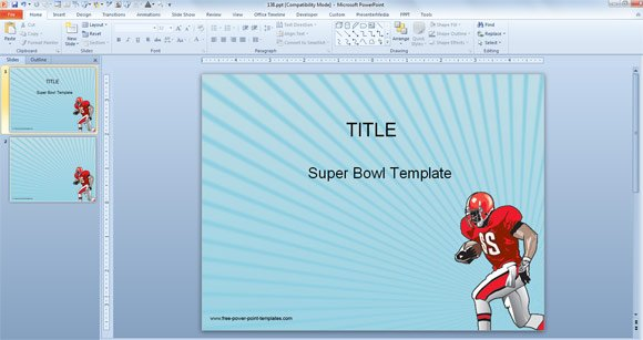 Free PowerPoint Templates for Super Bowl
