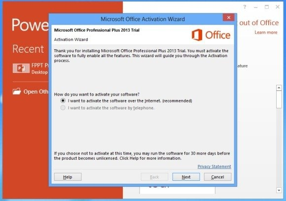 problems activating office 365