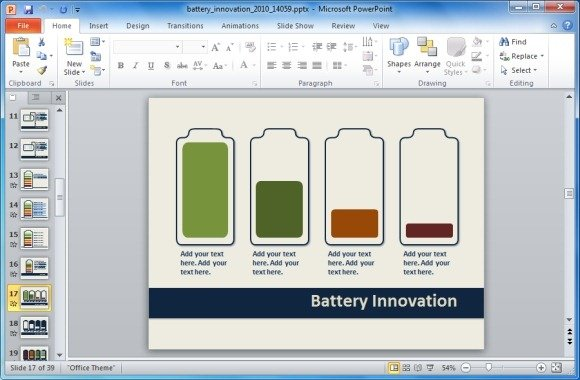 battery innovation template jpg fppt