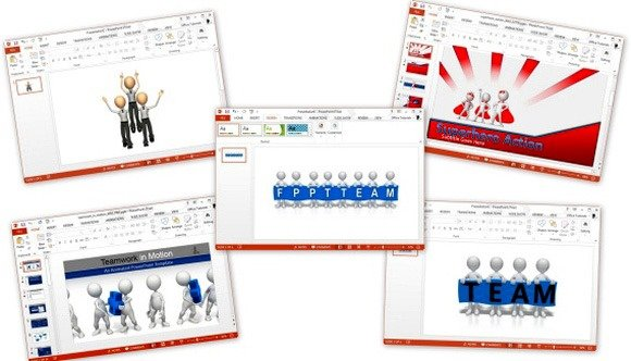 Best animated teamwork powerpoint templates toneelgroepblik Images