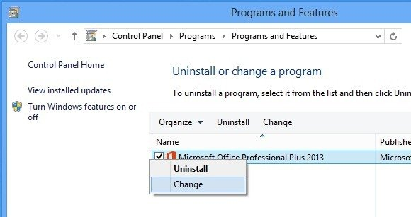 office 2013 professional change product key