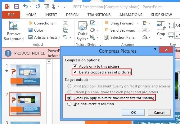 Compress pictures in powerpoint 2013 to reduce presentation file size compress picture in powerpoint 2013 toneelgroepblik Gallery