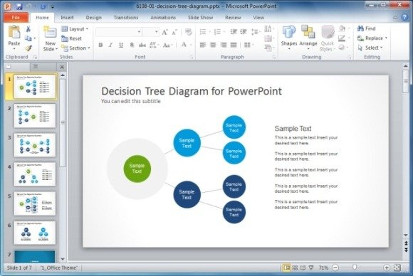 Decision Tree Diagram Template for PowerPoint