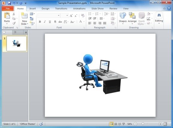 Desk Figure Workaholic Animated Clipart
