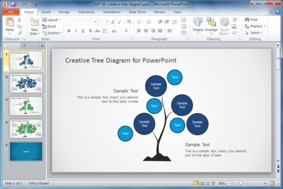 Best organizational chart templates for powerpoint download creative tree diagram powerpoint template toneelgroepblik Gallery