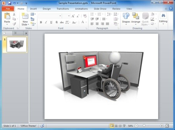 Figure Wheelchair Cubicle Clipart