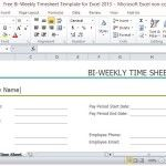 Free Bi-Weekly Timesheet for Small and Start-Up Businesses