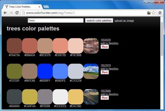 Generating Color Palettes via Flickr