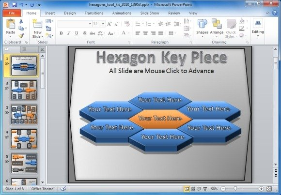 Hexagon Toolkit Template For PowerPoint