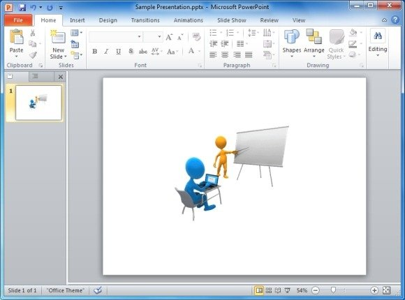 Online Computer Classroom Animated Clipart