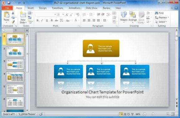 Best organizational chart templates for powerpoint org chart template for powerpoint ccuart Gallery