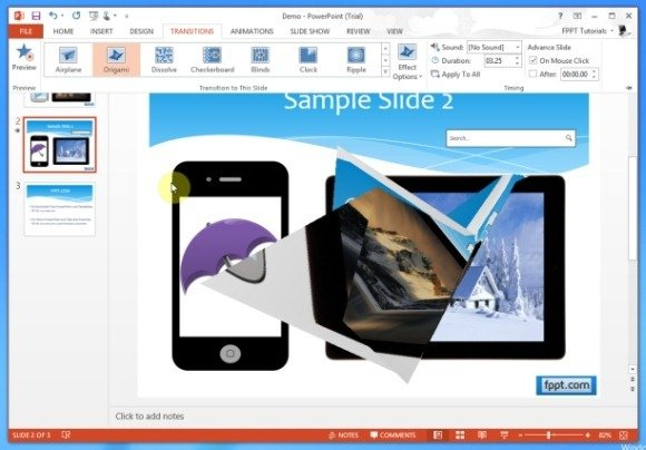 Use the origami effect to perfect your powerpoint presentations toneelgroepblik Image collections