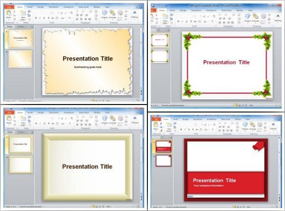 Page borders for powerpoint presentations for How to make my own powerpoint template