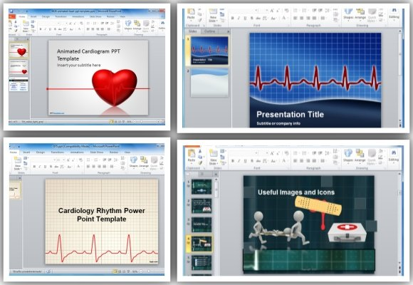 Top premium free animated heart rate powerpoint templates toneelgroepblik Image collections