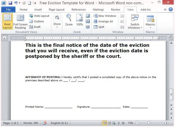 Professionally Written Eviction Notice for Landlords