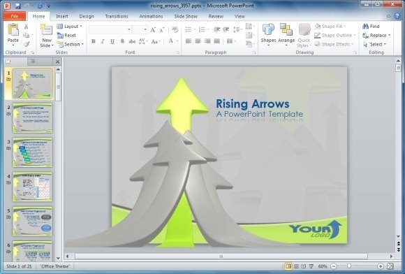 Rising-Arrows-PowerPoint-Template
