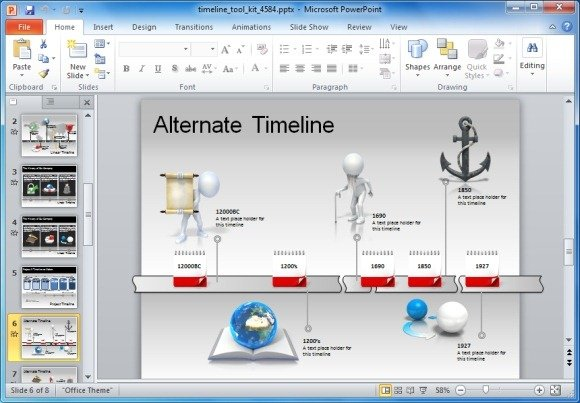 Powerpoint template roadmap toolkit toneelgroepblik Image collections