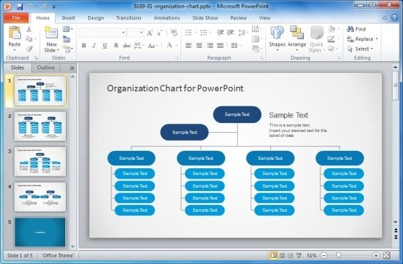 Best Organizational Chart Templates For PowerPoint - Org chart template ppt
