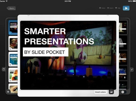Slidepocket powerpoint like ipad presentation app with templates smart predefined templates for making presentations toneelgroepblik Gallery