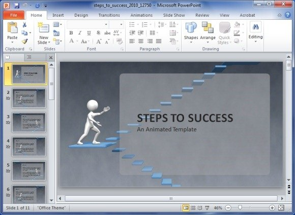 Animated steps to success powerpoint template steps to success animated powerpoint template maxwellsz