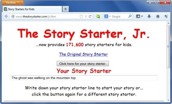 Story Starters for Kids and Letter Generator for Scribble