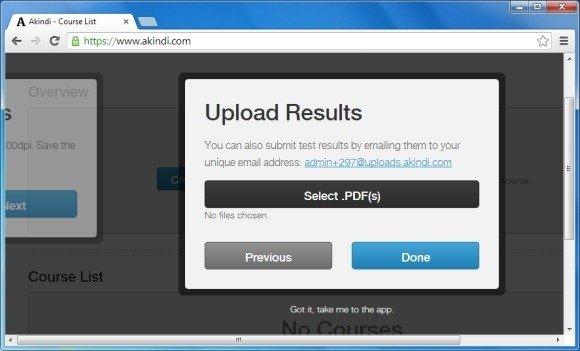 Upload Test Results