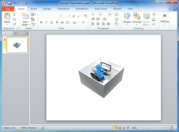 Working In A Box Animated Clipart