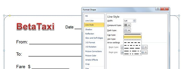 make a taxi receipt template in powerpoint 2010 - How To Make A Receipt