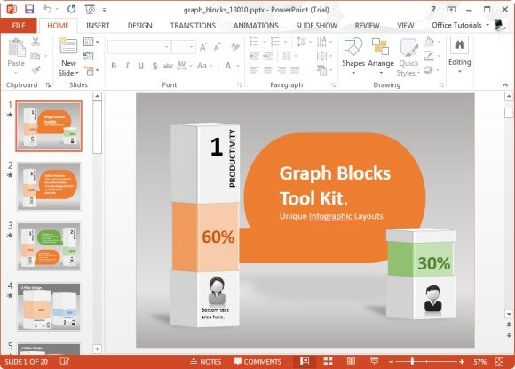 Animated graph blocks template for powerpoint toneelgroepblik Image collections