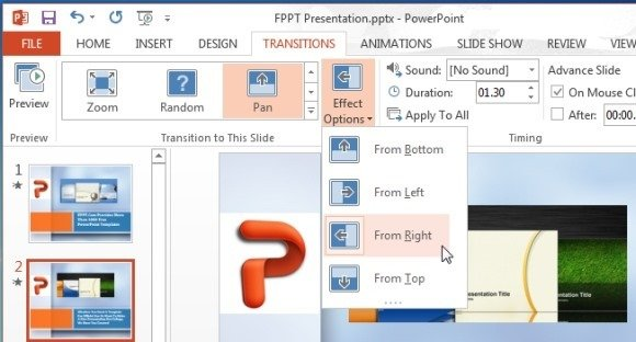 Applying The Camera Pan Effect in PowerPoint