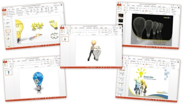 powerpoint templates for idea presentation, Modern powerpoint