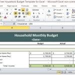 Budget Spreadsheet for Every Household
