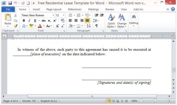 Clearly Written Agreement Document