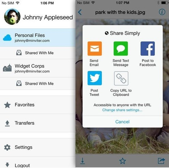 Copy Cloud Storage for iPhone