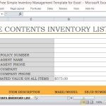 Create a Simple and Standard Inventory List