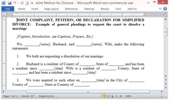 Free Petition Template For Word