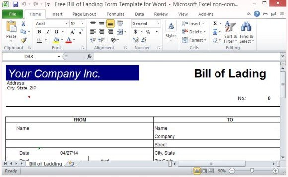 Create An Official Bill Of Lading