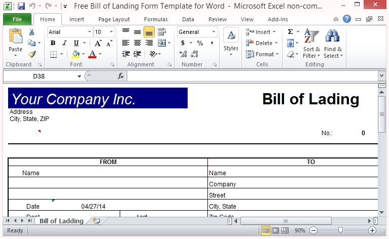 download bill of lading