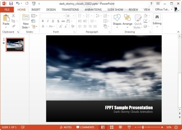 Dark Stormy Cloud Video Animation for PowerPoint